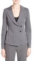Armani Collezioni Women's Chevron Jersey Jacquard Blazer