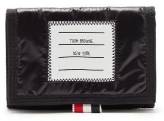 Thom Browne Logo-applique Velcro Bi-fold Wallet - Black