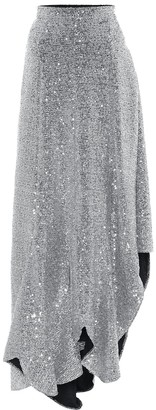 Ami Sequined midi skirt