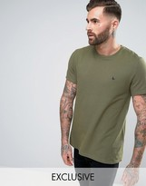 Jack Wills Elvaston Pique T-Shirt in Khaki