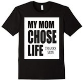Pro Life Mothers Day Shirt My Mom Chose Life JVP D101