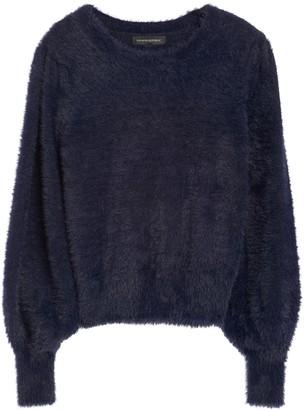 Banana Republic Petite Fuzzy Puff-Sleeve Cropped Sweater