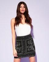 Lipsy Beaded Mini Skirt