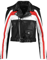 Maje Textured-Leather Biker Jacket