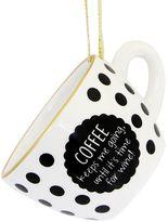 """""""Coffee Keeps Me Going"""" Polka-Dot Coffee Mug Christmas Ornament"""