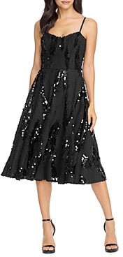 Dress the Population Flora Sequin Fit-and-Flare Dress
