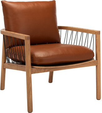 Safavieh Couture Caramel Mid-Century Leather Chair
