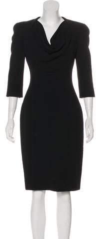 Alexander McQueen Structured Knee-Length Dress