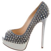 Christian Louboutin Lady Peep Spikes 140 Pumps
