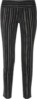 Alice + Olivia Striped cotton-blend straight-leg pants