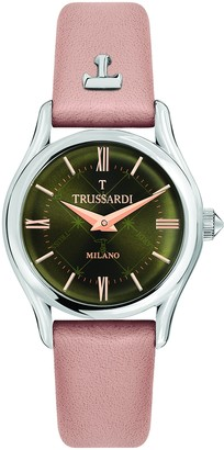 Trussardi Women's T-Light Stainless Steel Analog-Quartz Leather Strap