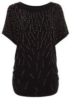 Dorothy Perkins Womens Quiz Stud Detail Short Sleeve Top