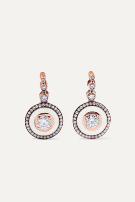Selim Mouzannar 18-karat Rose Gold, Enamel And Diamond Earrings - one size