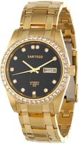 Sartego Men's SGBK04 Classic Analog Face Dial Gold Tone Swarovski Watch
