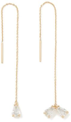 Bondeye Jewelry Trois White Topaz Earrings