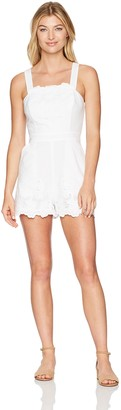 BCBGeneration Women's Lace Overall Romper