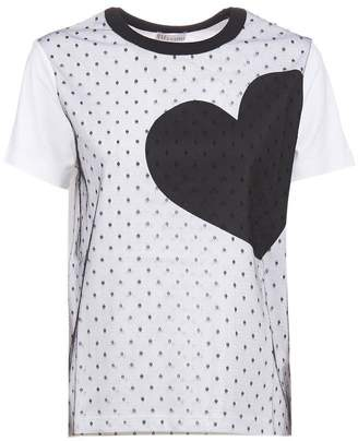 RED Valentino Heart Print Crewneck T-Shirt