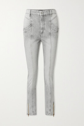Isabel Marant Kelissa Paneled High-rise Straight-leg Jeans