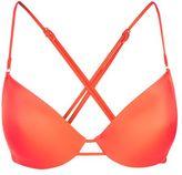 Topshop Ring trim plunge bikini top