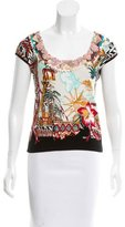 Blumarine Embellished Tropical Print Top