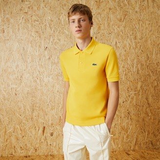 Lacoste Mens Fashion Show Edition Solid Stretch Cotton Polo Shirt