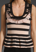 Nanette Lepore Blindfold Top in Cotton Candy and Panther