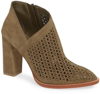 Vince Camuto Lorva Suede Perforated Ankle Boot