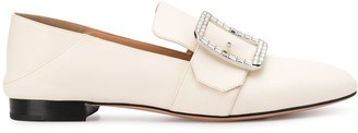 Bally Janelle rhinestone buckle loafers