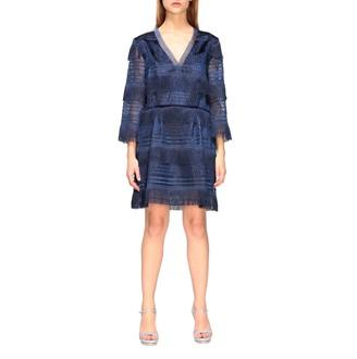 Alberta Ferretti Short Dress With Fringes
