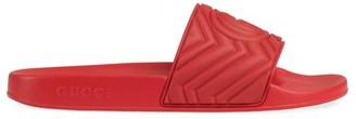 Gucci Matelasse Rubber Slide
