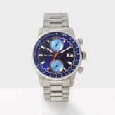 Paul Smith Men's Indigo And Silver 'Block' Chronograph Watch