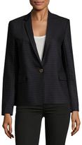 Sandro Striped Single Buttoned Jacket