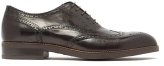 Paul Smith Fremont Grained-leather Brogues - Dark Brown