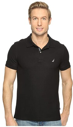 Nautica Slim Fit Performance Deck Polo (True Black) Men's Short Sleeve Pullover