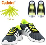 Coolnice® No Tie Shoelaces for Adults and Kids DIY 20pcs - Environmentally safe silicone - Lazy Shoestrings - Color of
