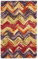 Liora Manné Painterly Crimson/ Lilac Indoor Wool Rug (8' x 10')