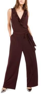 Alfani Petite Ruffled Jumpsuit, Created For Macy's