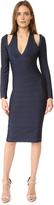 Herve Leger Nina Cold Shoulder Dress