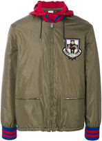 Gucci hooded bomber jacket - men - Polyamide/Virgin Wool - 46