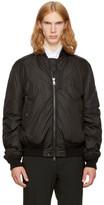 Moncler Black Down Allix Bomber Jacket
