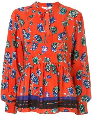 Derek Lam 10 Crosby floral print pleated blouse