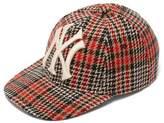 Gucci - Ny Yankees Wool Blend Tweed Baseball Cap - Mens - Black Red