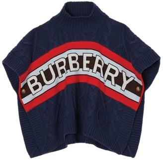 Burberry Kids Wool-Cashmere Logo Poncho