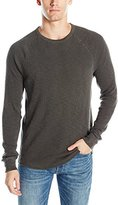 Lucky Brand Men's Lived-In Thermal Crewneck Jean in Black Mountain