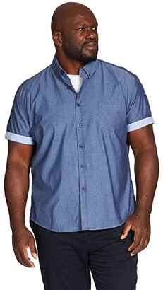 Johnny Bigg Big Tall River Jacquard Shirt (Chambray) Men's Clothing