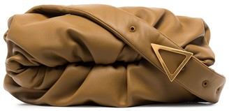 Bottega Veneta Ruched Leather Shoulder Bag