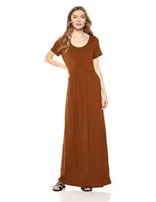 Daily Ritual Jersey Short-Sleeve Empire-Waist Maxi Dress Casual,(EU 2XL)