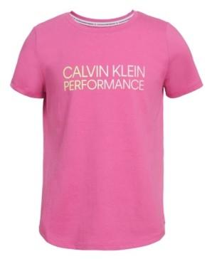Calvin Klein Big Girls Gradient Logo T-shirt