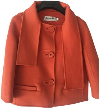 Christian Dior Orange Cashmere Jackets