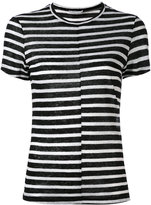 Frame striped T-shirt - women - Linen/Flax - M